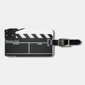 Clapboard movie slate clapper film luggage tag