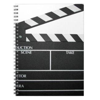 Clapboard movie slate clapper film notebook