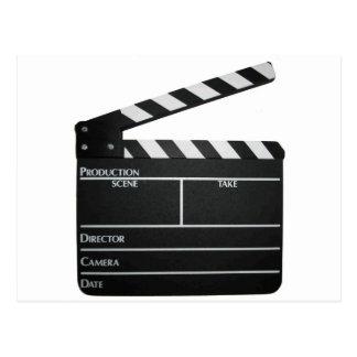 Clapboard movie slate clapper film postcard