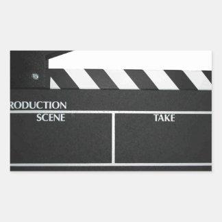 Clapboard movie slate clapper film rectangular sticker