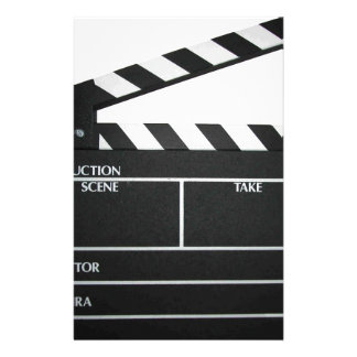 Clapboard movie slate clapper film stationery