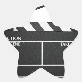 Clapboard movie slate clapper film star sticker