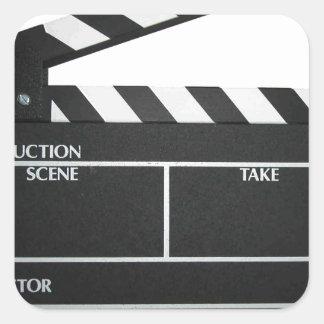 Clapboard movie slate clapper film square sticker