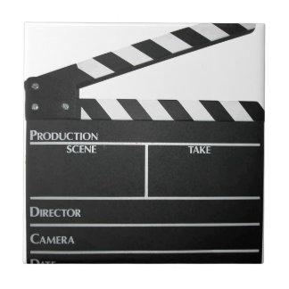 Clapboard movie slate clapper film tile