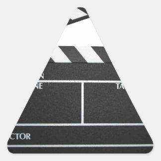 Clapboard movie slate clapper film triangle sticker