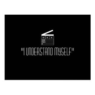 "Clapboard postcard ""I understand myself"""