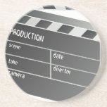 """Clapper-Board Film Movie Motion Picture Drink Coaster<br><div class=""""desc"""">Clapper-Board Film Movie Motion Picture</div>"""