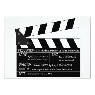 Clapper Board Invitation