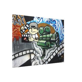 Clapper board man canvas print