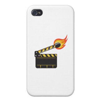 Clapper Board Match Stick On Fire Retro iPhone 4/4S Case
