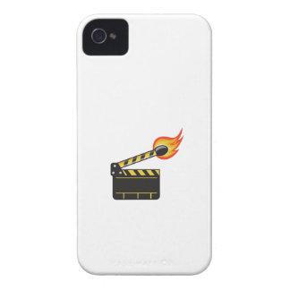 Clapper Board Match Stick On Fire Retro iPhone 4 Cover