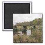 Clapper Bridge In Dartmoor National Park 2 Inch Square Magnet