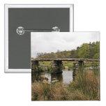 Clapper Bridge In Dartmoor National Park Pinback Button