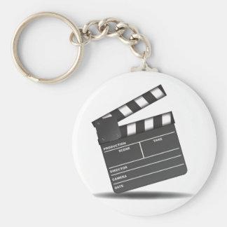 Clapperboard Basic Round Button Keychain