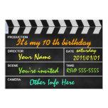 clapperboard cinema 5x7 paper invitation card