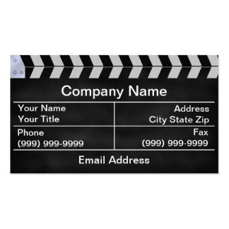 clapperboard cinema business card