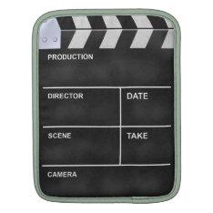 Clapperboard Cinema Ipad Sleeve at Zazzle