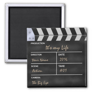 "Clapperboard cinema ""It's my Life"" Magnet"