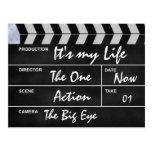 "clapperboard cinema ""It's my Life"" Postcards"