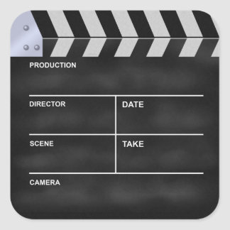 "Clapperboard cinema ""It's my Life"" Square Sticker"