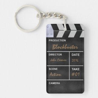 Clapperboard cinema keychain