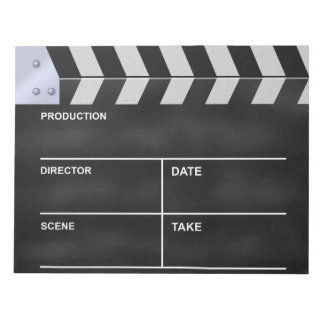 Clapperboard cinema notepad