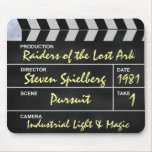 clapperboard cinema Raiders of the Lost Ark Mouse Pad