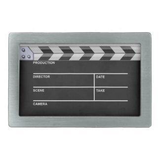 clapperboard cinema rectangular belt buckle