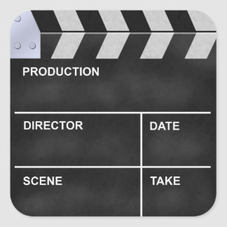 clapperboard cinema square sticker