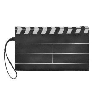 clapperboard cinema wristlet purse