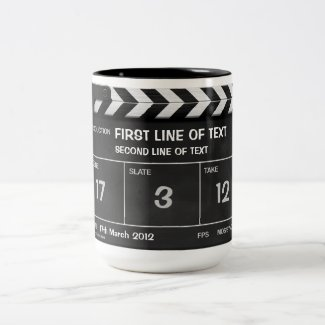 CLAPPERBOARD CLASSIC mug with your text