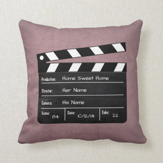 Clapperboard with Your Text! Throw Pillow