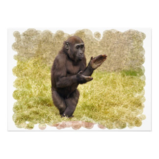 Clapping Chimp Invitation