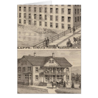 Clapp's curtain fixture manufactory greeting cards