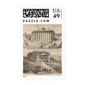 Clapp's curtain fixture manufactory postage stamp