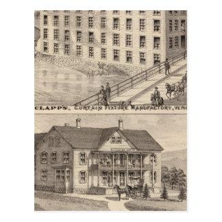 Clapp's curtain fixture manufactory postcard