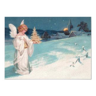 """Clapsaddle: Ángel del navidad con Bell Invitación 4.5"""" X 6.25"""""""