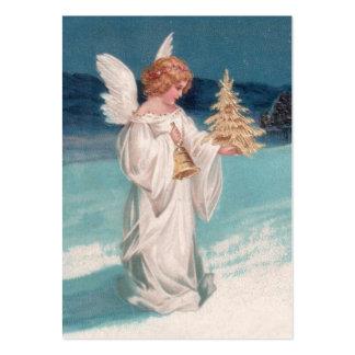 Clapsaddle: Ángel del navidad con Bell Plantilla De Tarjeta De Visita