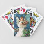 Clapsaddle: Ángel del navidad con los juguetes Baraja Cartas De Poker