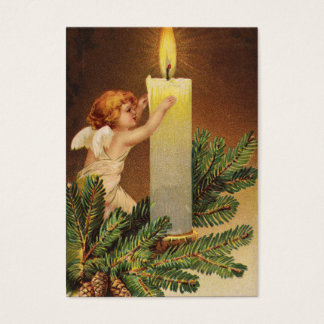 Clapsaddle: Angel on Fir Twig Business Card