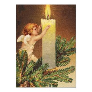 Clapsaddle: Angel on Fir Twig Custom Invite