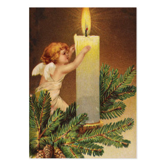 Clapsaddle: Angel on Fir Twig Large Business Card
