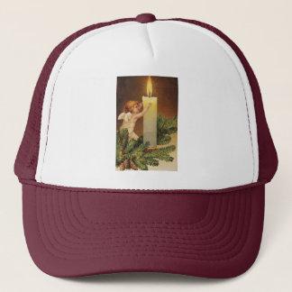 Clapsaddle: Angel on Fir Twig Trucker Hat