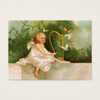 Clapsaddle: Angel Playing Harp Business Card