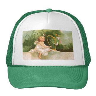 Clapsaddle: Angel Playing Harp Trucker Hat