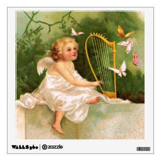 Clapsaddle: Angel Playing Harp Wall Sticker