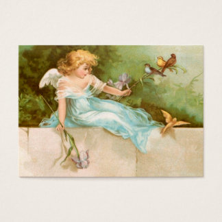 Clapsaddle: Angel Playing with Birds Business Card