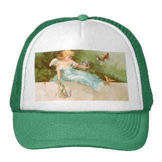 Clapsaddle: Angel Playing with Birds Trucker Hat