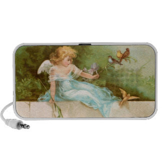 Clapsaddle: Angel Playing with Birds Mp3 Speaker