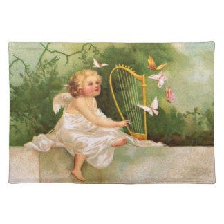 Clapsaddle: Ángel que toca la arpa Manteles